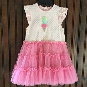 Little Me Dresses - Ice-cream cone tutu one piece dress 24M